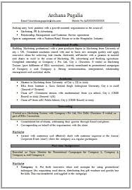Mba Resume Examples by Mba Marketing Fresher Resume Sample 7427