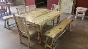 Log Dining Room Tables Montana Pioneer Rustic Log Dining Table U2013 Great Northern Logworks
