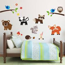 wall decal wonderful ideas woodland animal wall decals enchanted woodland animal wall decals woodland animals scene wall sticker