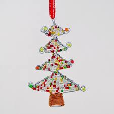 bead wire tree ornament