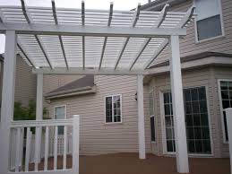 White Vinyl Pergola by Pergolas For Stylish Functionality St Louis Decks Screened