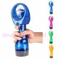 handheld misting fan battery powered portable fans with misting ebay