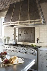 Kitchen Stove Backsplash Stainless Steel Large Kitchen Range Hood Over Gas Range In