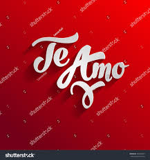 love you spanish greeting card template stock vector 332430059