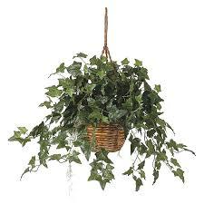 amazon com nearly natural english ivy hanging basket silk plant