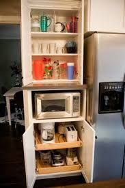Kitchen Pantry Kitchen Cabinets Breakfast by 10 Clever Updates For A Clutter Free Kitchen Microwave Cabinet