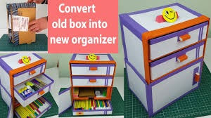 Desk Organiser For Kids How To Make A Desk Organizer Drawer Organizer Out Of Cardboard
