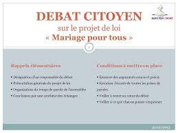 loi du mariage pour tous debat citoyen sur le projet de loi mariage pour tous ppt