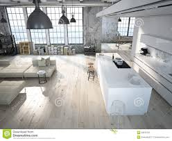 Loft Modern by Modern Loft With A Kitchen 3d Rendering Stock Photo Image 60843793