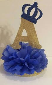 Blue And Gold Baby Shower Decorations by Prince Glitter Gold U0026 Royal Blue Centerpiece Royal Blue Faux Silk