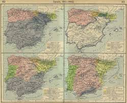 North America Map 1700 by Maps Showing The Progression Of The Christian U201creconquista U201d Of