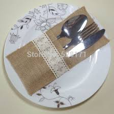 wedding silverware eco friendly burlap silverware holder linen cutlery holder rustic