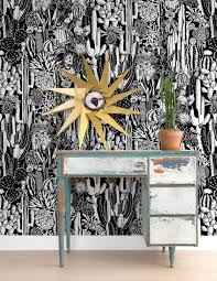 Black And White Kitchens 2017 Grasscloth Wallpaper by