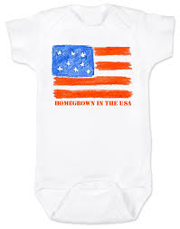 Baby Flag Homegrown Usa Baby Onesie