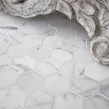 designs ideas floor decorating with hexagonal marble tile tile