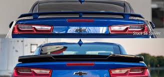 light blue camaro gen6 camaro ss zl1 acs composite rear deck lid spoiler wing 48 4 013