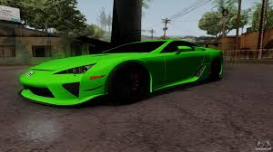 lexus lfa model code lexus lfa for gta san andreas