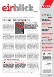 Schreibtisch Eckl Ung Einblick 2006 By Einblick Dgb Infoservice Issuu