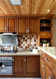 beautiful american style solid wood kitchen cabinet design