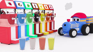 colorful slushies learn colors with ted the train educational