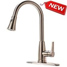 brushed nickel kitchen faucets hotis best modern high arch single handle pull out single handle