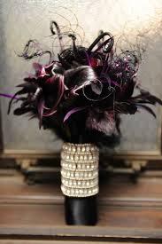picture of dark romance halloween wedding bouquets