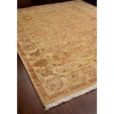 Gold Rugs Contemporary Rugsville Persian Hand Knotted Crown Camel Light Gold Rug 9 U0027 X 12 U0027