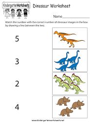 dinosaur worksheet free kindergarten learning worksheet for kids