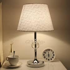 Contemporary Nightstand Lamps Decorative Fabric Shade E26 E27 Modern Nightstand Lamps