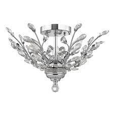 Semi Flush Mount Crystal Semi Flushmount Light In Chrome Finish 2253 26