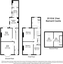 3 bedroom terraced house for sale in kirk view barnard castle