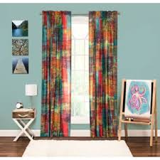 color block curtains u0026 drapes for less overstock com