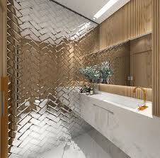 Mirror Bathroom Tiles Extraordinary Design Mirror Wall Tiles Plus The 25 Best Ideas On