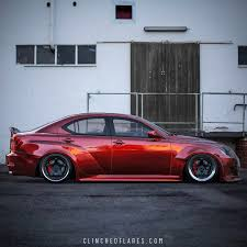 red lexus is 250 2006 lexus is250 is350 widebody kit by clinched flares