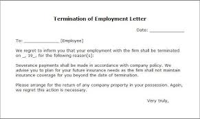 termination letter sample writing professional letters