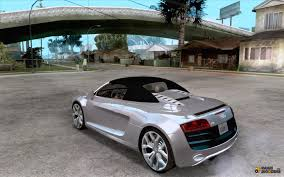 audi supercar convertible audi r8 spyder for gta san andreas