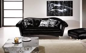 Black Leather Sofa With Cushions Furniture Luxurious Living Room With Black Leather Sofa For Your