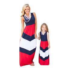 cheap 2017 fashion mother and daughter clothes girls childrens