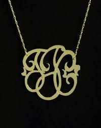 Small Monogram Necklace Mini Monogram Necklaces Personalized Jewelry Initial Obsession