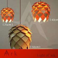 Wooden Pendant Lighting by Aliexpress Com Buy Modern Handmade Diy Wood Led Pinecone Pendant