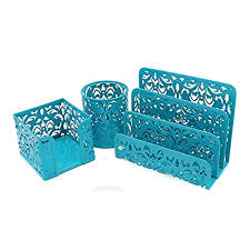 Blue Desk Accessories Aqua Desk Accessories