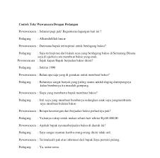 contoh laporan wawancara pedagang bakso contoh artikel wawancara dengan pedagang contoh trim