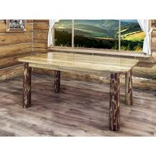 Rustic Table Ls Glacier Country 4 Post Log Dining Table By Montana Woodworks