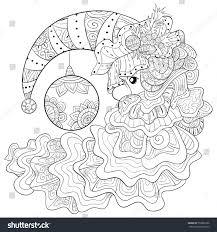 santa claus hat coloring page eliolera com