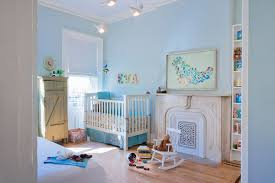 distressed crib nursery modern with fireplace screen wall letters