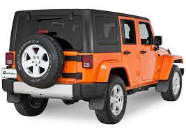 orange jeep cj mopar 82210232 rear deluxe molded splash guards in black with