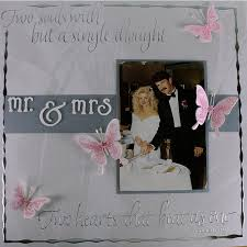scrapbook wedding mr and mrs wedding scrapbook layout favecrafts