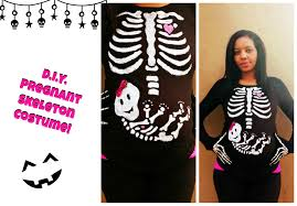 Pregnant Halloween T Shirts Last Minute Costume Diy Pregnant Skeleton Youtube