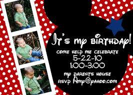 mickey mouse birthday invitations ideas