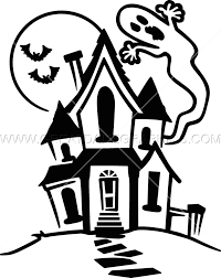 haunted house production ready artwork for t shirt printing